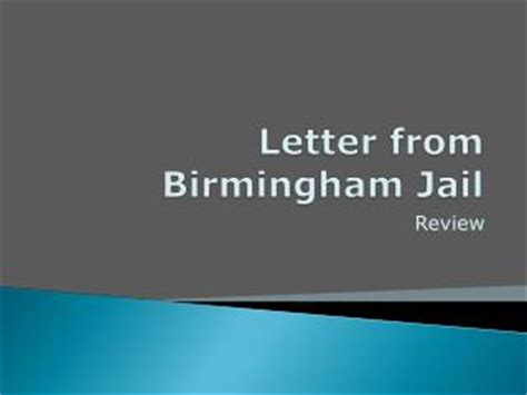 Ethos thesis for letter from Birmingham jail